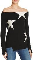 Pam & Gela Star Intarsia Off-The-Shoulder Sweater