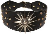 Fausto Puglisi Sun & Studs Embellished Leather Belt