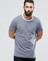 Farah T-Shirt With Contrast Ringer In Navy
