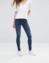 Noisy May Eve Low Waist Skinny Jeans with Zip Detail