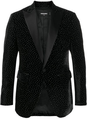 DSQUARED2 Shiny Dotted Blazer