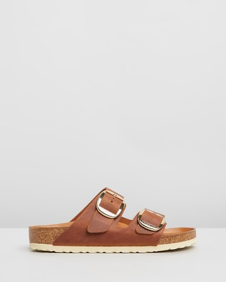 Birkenstock Unisex Arizona Big Buckle Natural Leather Regular Sandals