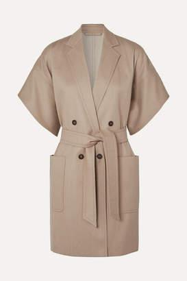 Max Mara Double-breasted Wool-twill Jacket - Beige