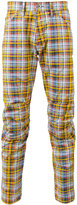 G Star madras check trousers