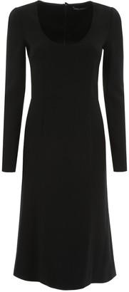 Dolce & Gabbana Scoop Neck Midi Dress