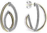 Lagos Sterling Silver and 18K Gold Caviar Bead Hoop Earrings