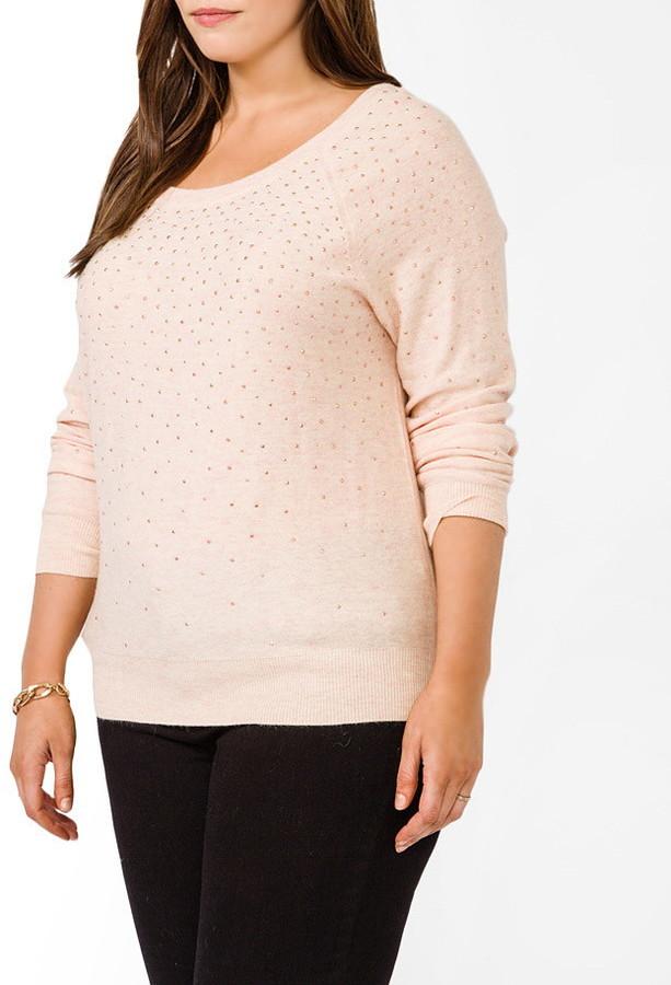 Forever 21 FOREVER 21+ Plus Size Sequined Melange Sweater