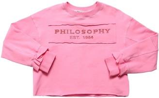 Philosophy di Lorenzo Serafini Embellished Logo Cotton Sweatshirt