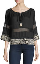 Gypsy 05 Embroidered Coverup Top