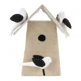 Tamar Mogendorff Polka dot Nesting Box with 3 birds - Natural and White