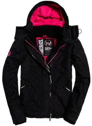 Superdry Zip-Up Hooded Jacket with Polar Fleece Lining and Pockets