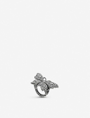 Gucci Butterfly crystal embellished ring