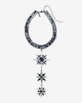 White House Black Market Blue Stars Choker Necklace