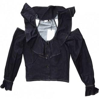 ATTICO Blue Denim - Jeans Top for Women
