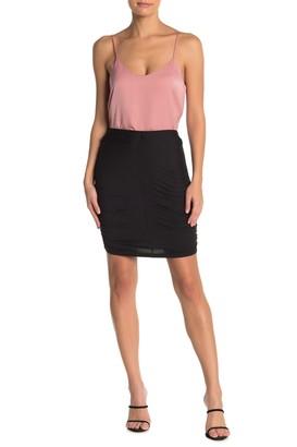 GOOD LUCK GEM Ruched Mini Skirt