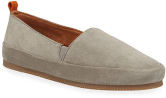 Mulo Men's Suede Slippers w/ Shearling Lining