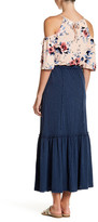 Max Studio Acid Wash Maxi Skirt
