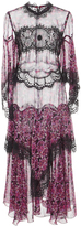Anna Sui Incense And Joy Chiffon And Lace Full Length Dress