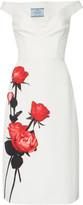 Prada Floral-Print Cotton Midi Dress
