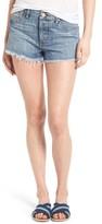 BP Women's Fray Hem Denim Shorts