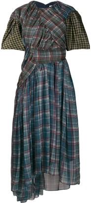 Preen by Thornton Bregazzi asymmetric ruffled midi dress