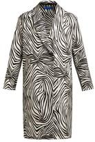 Märit Ilison - Fancy Zebra-stripe Cotton-blend Coat - Womens - Black White