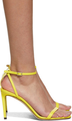 Jimmy Choo Yellow Leather Minny 85 Sandals