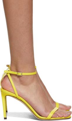 Jimmy Choo Yellow Minny 85 Heels