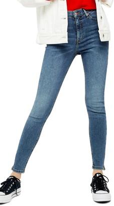 Topshop Jamie Zip Hem Jeans