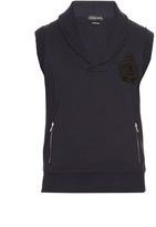 Alexander Mcqueen Logo-appliqué Sleeveless Cotton Sweatshirt