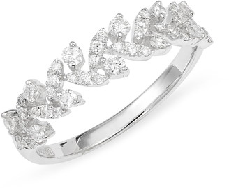 Bony Levy Getty Leaf Diamond Ring