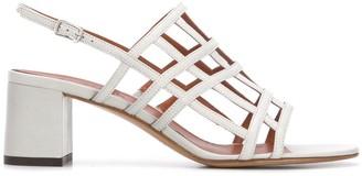 Michel Vivien Ria caged block-heel sandals