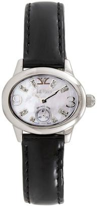 LeVian Le Vian Women's Leather Diamond Watch