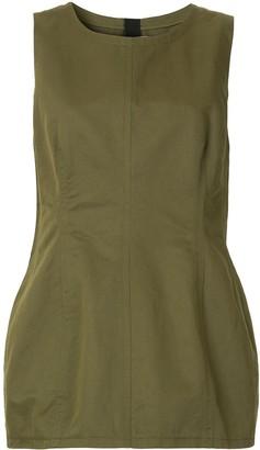 Marni sleeveless peplum blouse