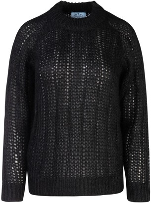 Prada Knitted Crewneck Sweater