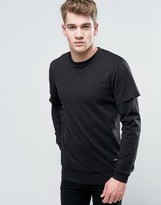 ONLY & SONS Long Sleeve Top With Faux Layered Arms And Hem