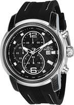 Invicta Men's S1 Rally Japanese Quartz Chronograph Black Silicone Watch 24237