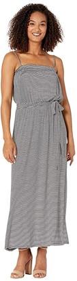 CeCe Sleeveless Thin Stripe Maxi Dress