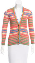 M Missoni Striped V-Neck Cardigan