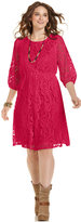 ING Trendy Plus Size Lace A-Line Dress