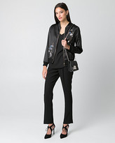 Le Château Embroidered Satin Bomber Jacket
