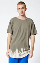 On The Byas Bleached Olive Extended Length T-Shirt