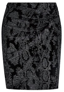 Dorothy Perkins Womens **Black Glitter Twist Mini Skirt, Black