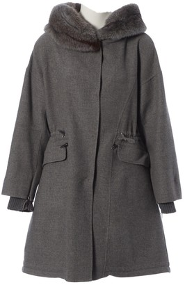 Ermanno Scervino Grey Mink Coat for Women