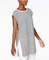 Eileen Fisher Organic Linen Striped Tunic, Regular & Petite