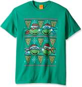 Nickelodeon Men's Tmnt Santa Pizza Slice Ugly Christmas T-Shirt