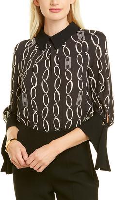 Elisabetta Franchi Draped Cuff Bodysuit