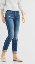 Esprit Turn-up stretch jeans in a vintage finish