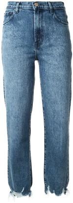 J Brand Distressed Straight Leg Jeans