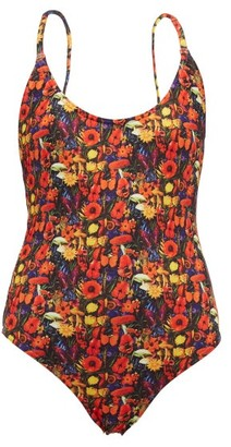 Muzungu Sisters - Holly Poppy-print Swimsuit - Black Multi